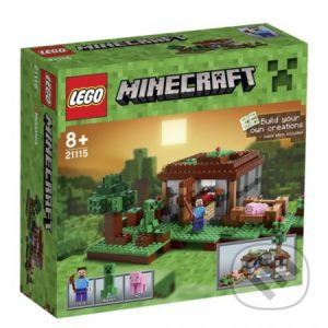 Lego Minecraft - darek pre chalana 10 rokov - darček pre 9 ročného chlapca - darček pre 8 ročného chlapca - darček pre Minecrafťáka - darček pre spolužiaka - darček pre chlapca na oslavu narodenín -  LEGO Minecraft 21115 Prvá noc