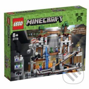 Lego Minecraft - darek pre chalana 10 rokov - darček pre 9 ročného chlapca - darček pre 8 ročného chlapca - darček pre Minecrafťáka - darček pre spolužiaka - darček pre chlapca na oslavu narodenín -  LEGO Minecraft 21118 Baňa