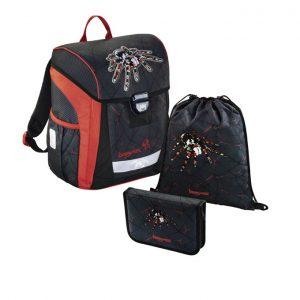 Hama Baggymax Trikky Pavúk – 3-dielna súprava - školské tašky pre prvákov sety -  školské aktovky pre prvákov sety -  školská taška pre prváka set -  školské potreby pre prváka -  aktovky pre prvákov -  školské batohy pre prvákov