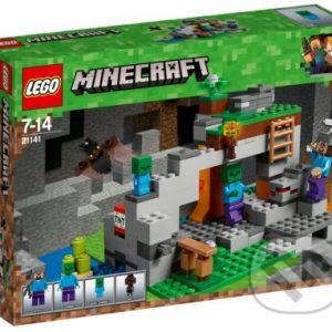 Lego Minecraft - darek pre chalana 10 rokov - darček pre 9 ročného chlapca - darček pre 8 ročného chlapca - darček pre Minecrafťáka - darček pre spolužiaka - darček pre chlapca na oslavu narodenín -  LEGO Minecraft 21141 Jaskyňa so zombie