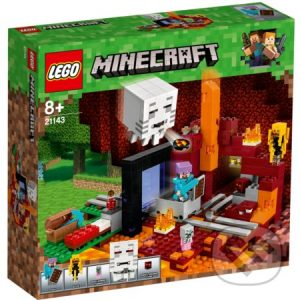 Lego Minecraft - darek pre chalana 10 rokov - darček pre 9 ročného chlapca - darček pre 8 ročného chlapca - darček pre Minecrafťáka - darček pre spolužiaka - darček pre chlapca na oslavu narodenín -  LEGO Minecraft 21143 Podzemná brána