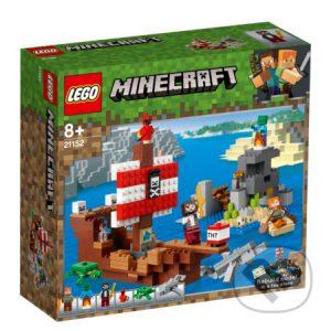 Lego Minecraft - darek pre chalana 10 rokov - darček pre 9 ročného chlapca - darček pre 8 ročného chlapca - darček pre Minecrafťáka - darček pre spolužiaka - darček pre chlapca na oslavu narodenín -  LEGO Minecraft 21152 Dobrodružstvo na pirátskej lodi